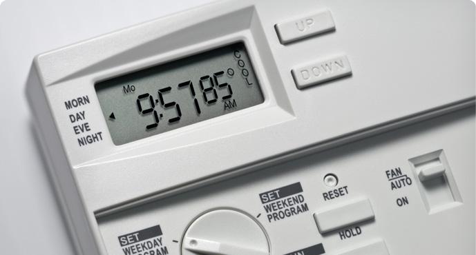 An HVAC control panel.